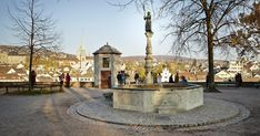 This spot provides a glorious view of the Old Town, Grossmünster Church, City Hall, the Limmat river, the university and the Swiss Federal Institute of Technology. Lake Zurich, Old Town, Old Things, University, Technology, River, City, Green, Federal