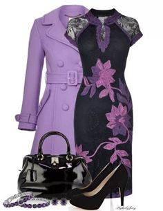 59c269e7d6c35 Excelente combinación de colores Purple Outfits, Dress Up Outfits, Classy  Outfits, Pretty Outfits