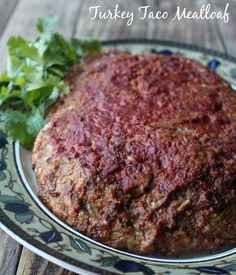 Turkey Taco Meatloaf Recipe. Healthy make-ahead dinner recipe. Delicious and perfect for food prep or freezer cooking day.