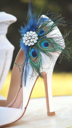 See more about peacock wedding, wedding shoes and peacock fe.- See more about peacock wedding, wedding shoes and peacock feathers. peacock See more about peacock wedding, wedding shoes and peacock feathers. Peacock Shoes, Peacock Feathers, Peacock Tail, Peacock Colors, White Feathers, Crazy Shoes, Me Too Shoes, Dream Shoes, Zapatos Shoes