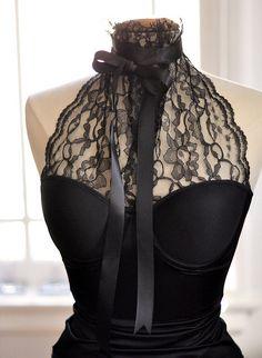 Lace Bustier Halter DIY - with bow by ...love Maegan, via Flickr