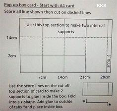 Pop up box card measurements | docrafts.com