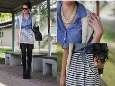 stripes, blue, cream.