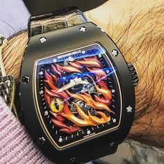 REPOST!!!  Are you bold enough for this Richard Mille Evil Eye Tourbillon RM 26-02?  Yea or Nay?  Pic by Riddler  repost | credit: ID @puristspro (Instagram)
