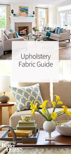 Whether you're looking to reupholster chairs, sofas, ottomans, or other pieces of furniture, you'll find this upholstery fabric guide extremely helpful. Learn all about the best natural fabrics and synthetic fabrics to use when giving old, outdated, or vintage furniture a stylish makeover.