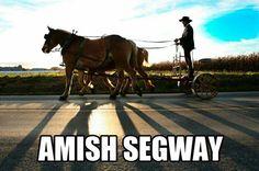 Amish Segway, too funny!