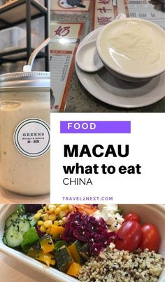 Where to eat in Macau - Historic Centre. They have gluten free foods and sell freshly made smoothies and cold pressed fruit drinks as well. #macao #food #visitmacao #macau #asia