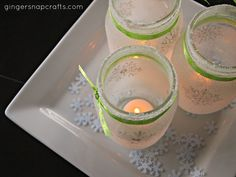 White Christmas Snowflake Luminaries