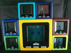 SOLD!  Radica Cube World Electronic Block Bash Dash Handy Sparky Dusty Hans Chief