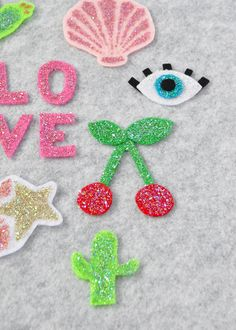 How to Make Your Own Glitter Patches