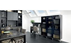 Media unit, custom made by Schmidt, available in any colour or finish.