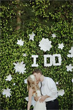 Backyard Wedding Ideas. I'd love to try a few of these!