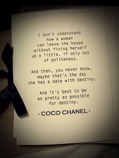 Make an effort - Coco wouldn't steer you wrong!