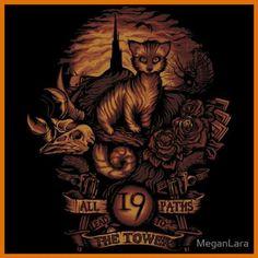 Geek Gear: Stephen King The Dark Tower 'Nineteen' Shirt - Geeks of Doom Dark Tower Art, The Dark Tower Series, Illustrations, Illustration Art, Dark Tower Tattoo, La Tour Sombre, Geek Gear, Triptych, Fantasy Art
