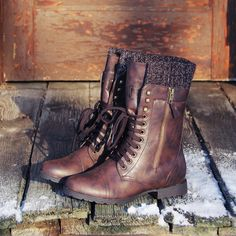 Heirloom Sweater Boots in Chestnut. Love these.
