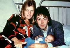 9-12-1977 - Paul and Linda McCartney gave birth to their son James.