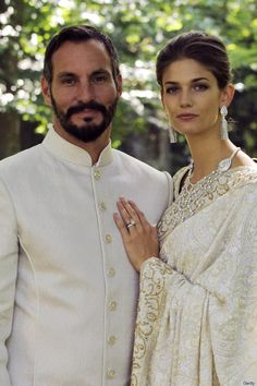 Prince Rahim Aga Khan and Miss Kendra Salwa Spears during their wedding ceremony on 31 Aug 2013 in Geneva, Switzerland