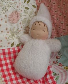 waldorf doll-sherpa snow baby