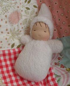 waldorf doll-sherpa snow baby