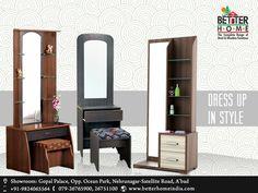 Your dressing solutions  Wide Range of #DressingTables available Better Home India - Furniture Showroom, Ahmedabad  #BetterHome #FurnitureShowroom #Furniture #WoodenFruniture #BedroomFurniture
