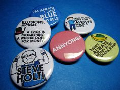 Party Favors: lets make buttons with sayings on them! or stickers!