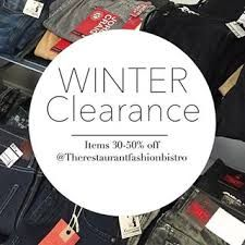 Image result for clearance sale of winter merchandise