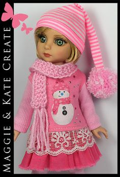 """* WINTER * Outfit for Tonner Patsy 10"""" Ann Estelle Doll by Maggie & Kate Create"""