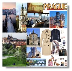 """""""Prague in the Spring"""" by deborah-518 ❤ liked on Polyvore featuring Louis Vuitton, Topshop, Jet Set Candy, Lonely Planet, National Geographic Home, Idylle, Yves Saint Laurent, Estée Lauder and Oliver Gal Artist Co."""
