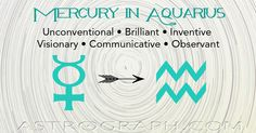 Mercury in #Aquarius: Taking a Fresh Approach - AstroGraph #Astrology #Horoscopes