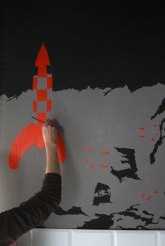 tintin mural