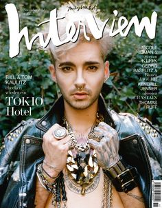 Bill Kaulitz Covers Interview Germany-Five years since their last album Humanoid in 2009, German rock band Tokio Hotel is back with Kings of Suburbia. Prom