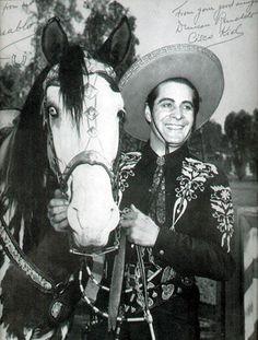 Renaldo Duncan as The Cisco Kid and his horse Diablo Circa 1950-1956(?)