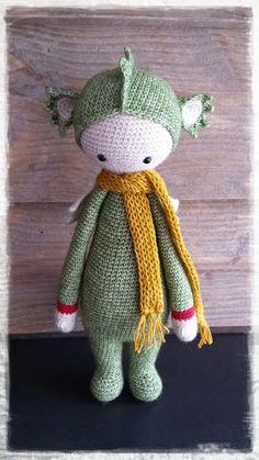 DIRK the dragon made by Els van Sch. / crochet pattren by lalylala
