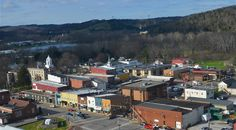 Ripley, WV from a helicopter. :)