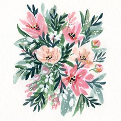 Vote for my watercolor if you'd like to see prints available on Minted© | 50s Paperwhites by Natalie Malan