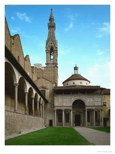 Giclee Print: Chapel of the Pazzi Family Art Print by Filippo Brunelleschi by Filippo Brunelleschi : Florence Art, Florence Italy, Toscana, Filippo Brunelleschi, Emilia Romagna, Cathedral Church, Italian Beauty, Ancient Architecture, Building Architecture