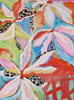 Items similar to Original Acrylic Collage Painting Canvas Abstract Flowers Modern Expressive Contemporary Fine Art on Etsy Abstract Canvas, Painting Canvas, Canvas Art, Rock Painting, Motif Floral, Painting Lessons, Colorful Paintings, Abstract Flowers, Painting Inspiration