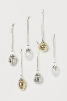 glass and mercury glass ornaments #christmasornaments
