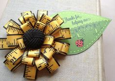 Design by Night: Teacher Appreciation Flower Brooch Tutorial