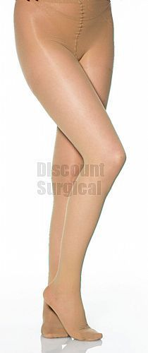 Sheer To Waist Pantyhose No Cotton Crotch Leg Ave