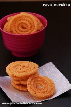 rava murukku - very tasty and easy to make murukku or chakli which can be served as a tea time snack. how to make murukku for diwali - diwali snack recipe