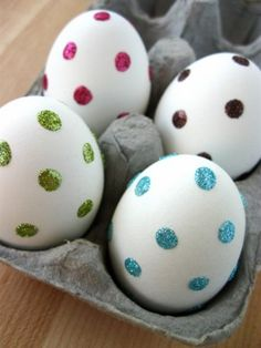 Glitter spots , Easter DIY Inspiration Gallery : Home Trends Magazine
