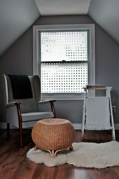 Make your own window film using a plastic shower curtain and spray starch.