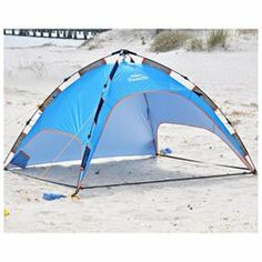 Shadezilla Easy Pop UP Beach Tent - UPF 100 w/ Removable Floor  sc 1 st  Pinterest & Deluxe Large Beach Shelter UPF70+ w/ Heavy Duty Fiberglass Poles ...