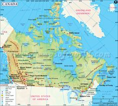 map of Canada with provincial capitals labeled  Teaching EAL
