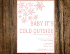 Winter Wonderland Soft Pink Baby It's Cold Outside by SONNYAndCo, $7.99