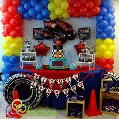 Ideas de Cumpleaños Fiesta Blaze the Monster Machine 5th Birthday Party Ideas, Birthday Themes For Boys, Cars Birthday Parties, 1st Boy Birthday, Monster Trucks, Monster Truck Birthday, Monster Jam, Blaze The Monster Machine, Hot Wheels Party
