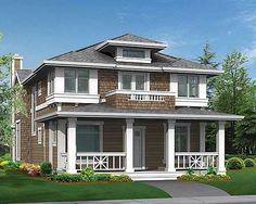 Plan W23295JD: Narrow Lot, Craftsman, Photo Gallery, Northwest House Plans & Home Designs