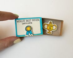 Funny Father's Card Matchbox - Father's Day Card - Father of the Year - World's…