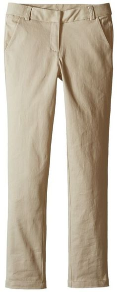 Nautica Straight Leg Stretch Twill Pants Girl's Casual Pants